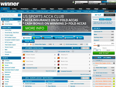 Winner Sports Betting Review of March 2021 Offers: £200 Free Bet