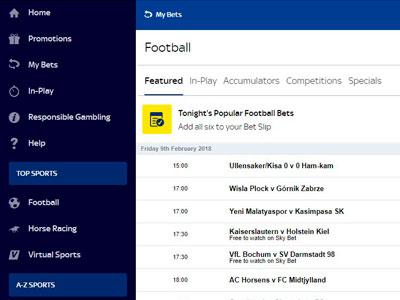 Sky Bet Football Bookmaker – Get £20 Free Bets Bonus in March 2021